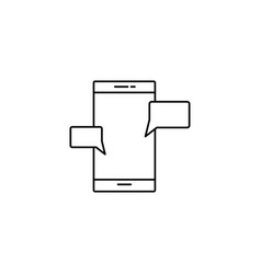 smartphone chat icon vector image