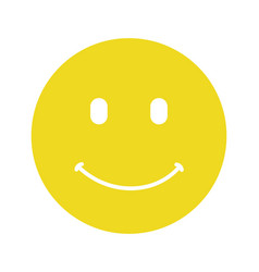Smiley happy face flat isolated on vector