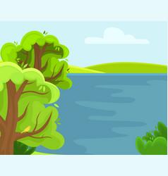 spring rural landscape vector image