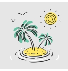 Symbol Palm Island vector image