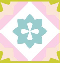 tile decorative floor tiles pastel pattern vector image