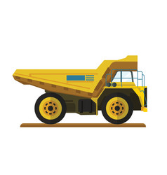 Tipper dump truck for mining site vector