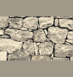 Trace of aged stone wall texture vector