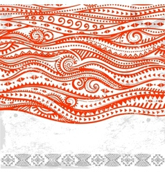 Tribal vintage ethnic ornament vector