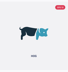 two color hog icon from animals concept isolated vector image