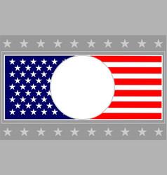 united states flag frame card background vector image