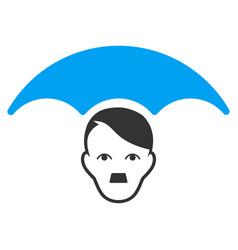 User umbrella flat icon vector