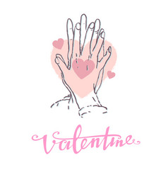 valentine concept showing a vector image