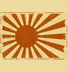 Vintage japan flag landscape background vector