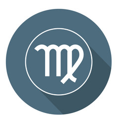 virgo icon astrological horoscope sign zodiac vector image