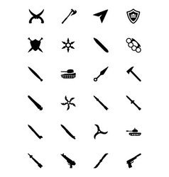 Weapons Icons 5 vector