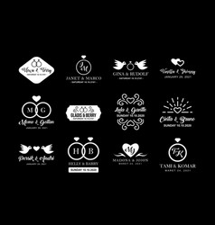 wedding logo and badge good for print vector image