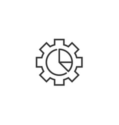 Workflow chart icon in flat style gear with vector