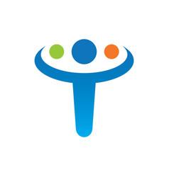abstract human tramwork logo vector image
