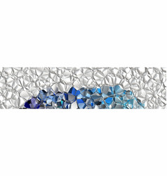 background crumpled foil vector image