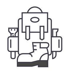 backpack active travel camping boots vector image