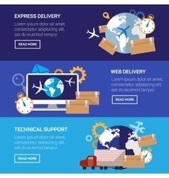 International delivery and worldwide postage vector image