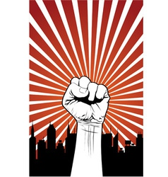 power fist vector image vector image