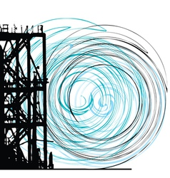 Abstract grunge tower vector image vector image