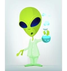 Cartoon Science Alien vector image vector image
