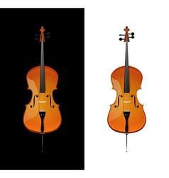 Cello in realistic style vector image