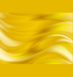 golden liquid smooth waves abstract background vector image