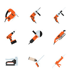 set of building electrotools for repair vector image vector image