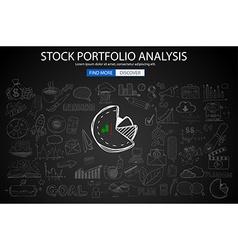 Sketch3 Concept StockPortfolioAnalysis 19c vector image