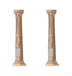 stylized greek doodle column doric ionic vector image