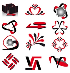 collection of symbols for design vector illustrati vector image vector image