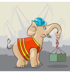 Elephant is a crane vector image vector image