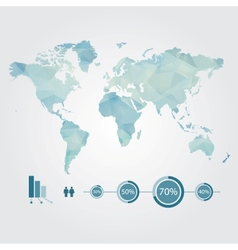 Modern concept of world map with infographic vector