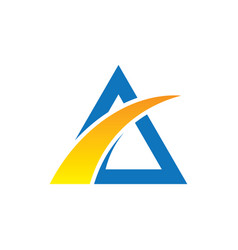 abstract triangle arrow business logo vector image vector image
