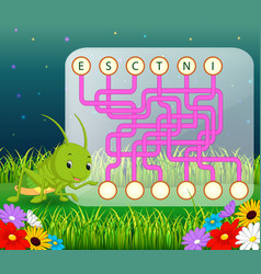 logic puzzle game for study english vector image