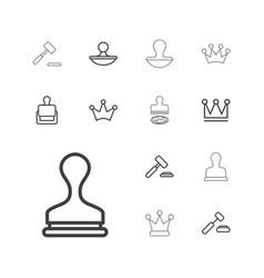 13 authority icons vector
