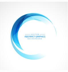 Abstract circular blue frame vector