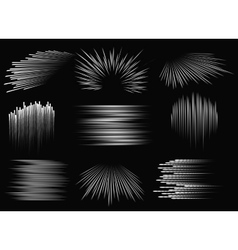 Abstract speed line patterns vector