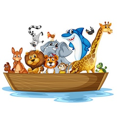animal on boat vector image