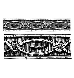 baroque architectural detail vector image