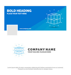 blue business logo template for box labyrinth vector image