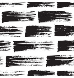 brush strokes seamless pattern in black white vector image