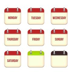 calendar app icons vector image