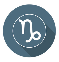 Capricorn icon astrological horoscope sign zodiac vector