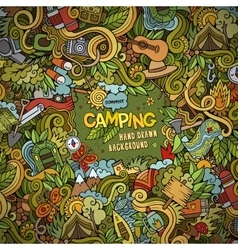 Cartoon Camping frame background vector image