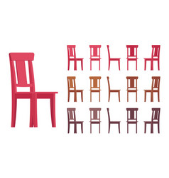chair interior set vector image