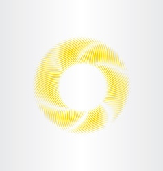 Circle yellow sunshine abstract background vector