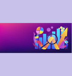Competitive analysis concept banner header vector