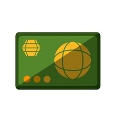 credit card money isolated icon vector image