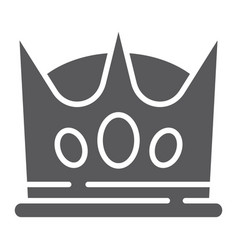 crown glyph icon king and leader royal sign vector image