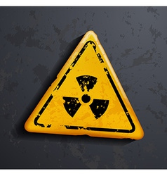 danger sign of radioactivity vector image